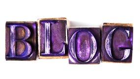 Blogwort Stockbilder