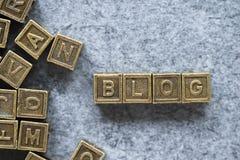 Blogwort Stockbild
