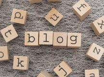 Blogwort Lizenzfreie Stockfotos