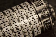 Blogwort als Passwort zum Kombinationspuzzlespiel Lizenzfreie Stockbilder