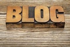 Blogwort in der hölzernen Art Lizenzfreie Stockfotografie