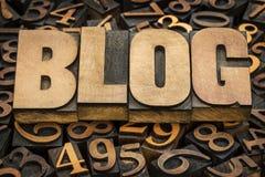Blogwort in der hölzernen Art Stockbilder
