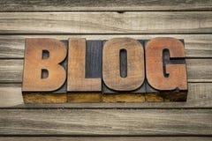 Blogwort in der hölzernen Art Lizenzfreie Stockbilder