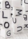 Blogwort gemacht von den hölzernen Buchstaben Lizenzfreie Stockbilder