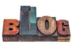 Blogwort in gemischter hölzerner Art Lizenzfreies Stockbild