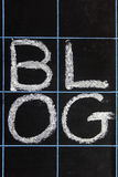 Blogwort handgeschrieben Lizenzfreie Stockfotografie