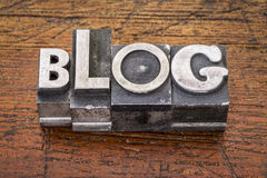 Blogwort im Metall Lizenzfreie Stockfotos