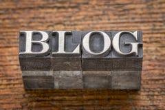 Blogwort in Mischweinlesemetallart Lizenzfreies Stockfoto