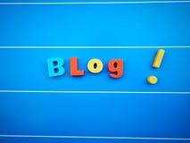 Blogworttext Lizenzfreie Stockfotografie