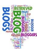 Blogwortwolke Lizenzfreies Stockfoto