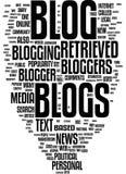 Blogwortwolke Stockfoto