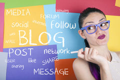Blogwortwolke Stockfotos