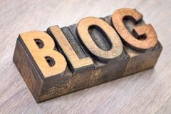 Blogwortzusammenfassung in der hölzernen Art Stockbilder
