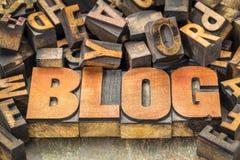 Blogwortzusammenfassung in der hölzernen Art Lizenzfreies Stockfoto