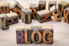 Blogwortzusammenfassung in der hölzernen Art Lizenzfreie Stockfotos