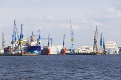 Blohm und Voss koppeln, Hamburg an, redaktionell Stockfoto
