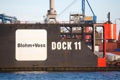 Blohm + Voss in Hamburg Deutschland Stockbilder