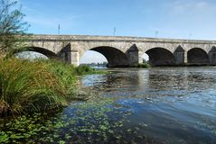 blois桥梁石头 库存图片