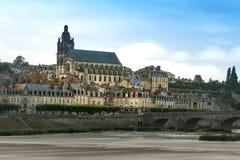 ` Blois замка d от взгляда Луары стоковое фото rf