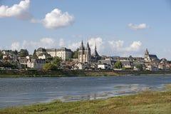 Blois auf dem Fluss die Loire Frankreich Lizenzfreies Stockfoto