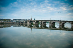 Blois bridge Royalty Free Stock Images