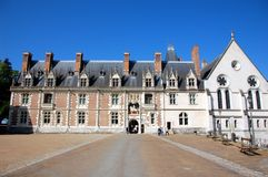 Blois castle. Main entrance Royalty Free Stock Image