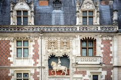 Chateau de Blois. Castle on the Loire River. France. Blois Castle is one of the main castles of the Loire Valley; It was the residence of numerous sovereigns of Stock Image