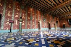 Blois chateau i Frankrike Arkivbilder