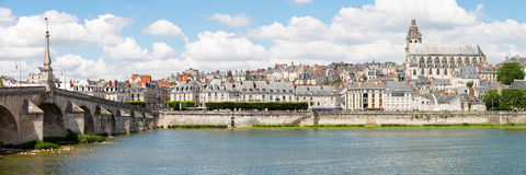 Blois Cityscape Panorama France Stock Photo