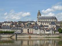 blois de val的卢瓦尔河 免版税图库摄影