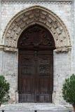 Blois - der Eingang zur Kirche von St.-Nicolas Stockbild