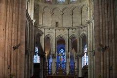 Blois - der Innenraum von St.-Nicolas-Kirche Lizenzfreies Stockbild