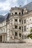 Blois in France, the beautiful castle. Blois in France, June 15th, 2019, the beautiful castle in the center, the famous staircase stock photography