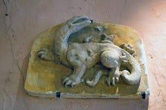 BLOIS, FRANCIA - CIRCA GIUGNO 2014: Figura della salamandra, castello francese di Blois Fotografia Stock Libera da Diritti