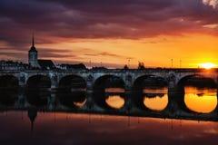 Blois Frankreich Stockbild