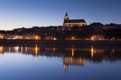 Blois nachts Stockfoto
