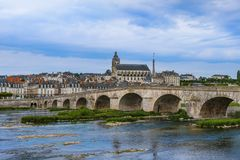 Blois-Schloss im Loire Valley - dem Frankreich Stockfotografie