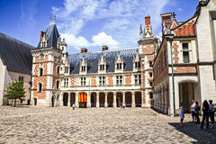 Blois-Schlosshof Lizenzfreie Stockfotos