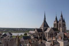 Blois und die Loire Lizenzfreie Stockfotos