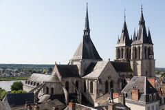 Blois und die Loire Lizenzfreies Stockfoto
