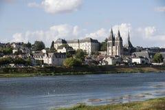 Blois und Fluss die Loire Frankreich Stockbilder