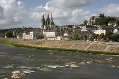 Blois und Fluss die Loire Frankreich Stockfotografie