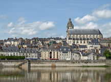 Blois, val de Loire. Blois, Loire valley, France, city view from the river Royalty Free Stock Photography