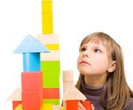bloków dzieci bawią się zabawka Fotografia Stock