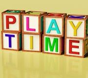 bloków dzieciaki bawić się pisownia czas ilustracji