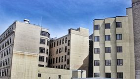 Bloków mieszkalnych kompleksy apartamentów w mieście zdjęcia royalty free