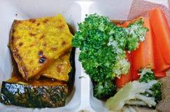 Blok Kerry, pompoen en wortel voor laag cholesterolvoedsel Royalty-vrije Stock Foto