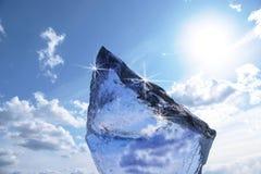 Blok lód Zdjęcie Stock