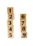 blok liczby brogowali drewnianego Zdjęcie Royalty Free