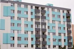 Blok mieszkalny, miastowy budynek Obraz Royalty Free